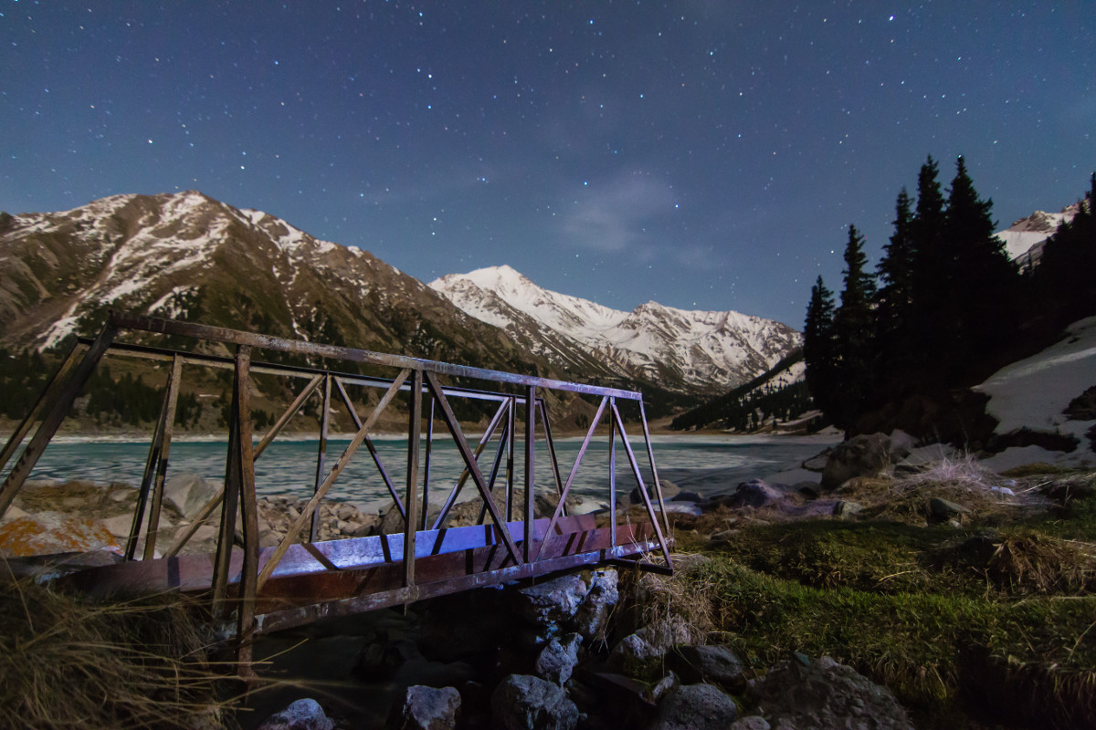 Bridge on Big Almaty Lake (Kazakhstan)